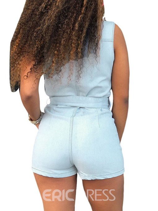 Ericdress Casual Plain Pocket Sexy Slim Romper