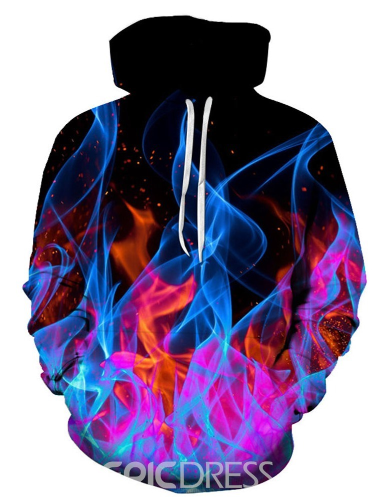 Ericdress Pullover Regular 3D Men's Loose Hoodies