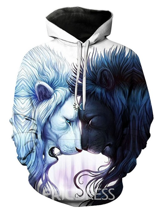 Ericdress Pullover 3D Print Men's Regular Hoodies