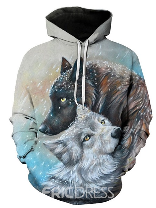 Ericdress 3D Cartoon Pullover Loose Men's Casual Hoodies