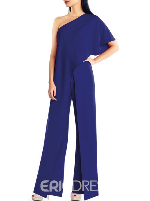 Ericdress Full Length Party Asymmetric Straight Loose Jumpsuit