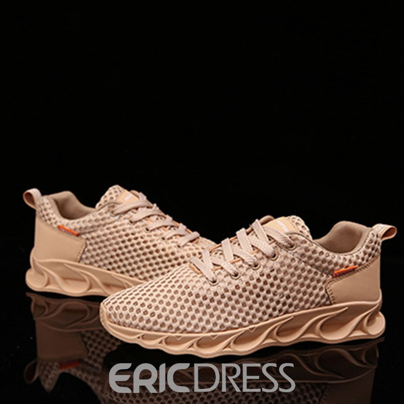 Ericdress Mesh Low-Cut Upper Lace-Up Men's Breathable Sneakers