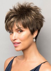 Ericdress Short Pixie Cut Hairstyles Womens Straight Synthetic Hair Wigs Capless Wigs 10Inch фото