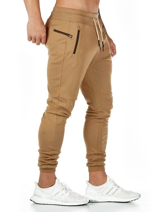 Ericdress Patchwork Color Block Casual Four Seasons Men's Casual Pants