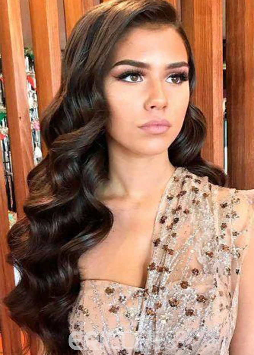 Ericdress High Density Women's Long Length Loose Wave 100% Human Hair Wigs Lace Front Wigs 26Inch