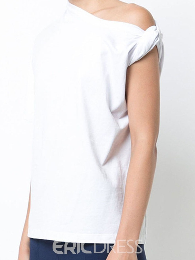 Ericdress Short Sleeve Standard Plain Solid Color Loose T-Shirt