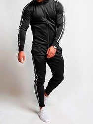 Ericdress Lace-Up Color Block Mens Sports Outfit фото