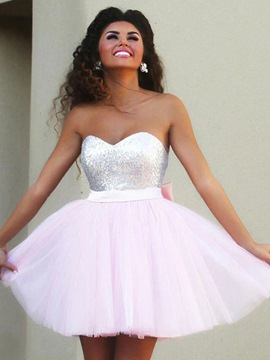 Ericdress Short Sleeveless Sweetheart A-Line Homecoming Dress