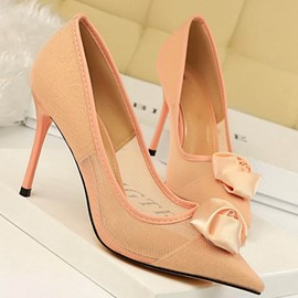 Ericdress Mesh Pointed Toe Stiletto Heel Slip-On Women's Pumps