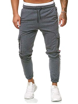 Ericdress Color Block Harem Pocket Men's Casual Pants