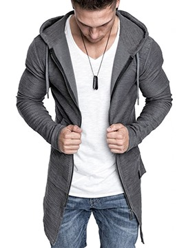 Ericdress Zipper Plain Men's Cardigan Hoodies