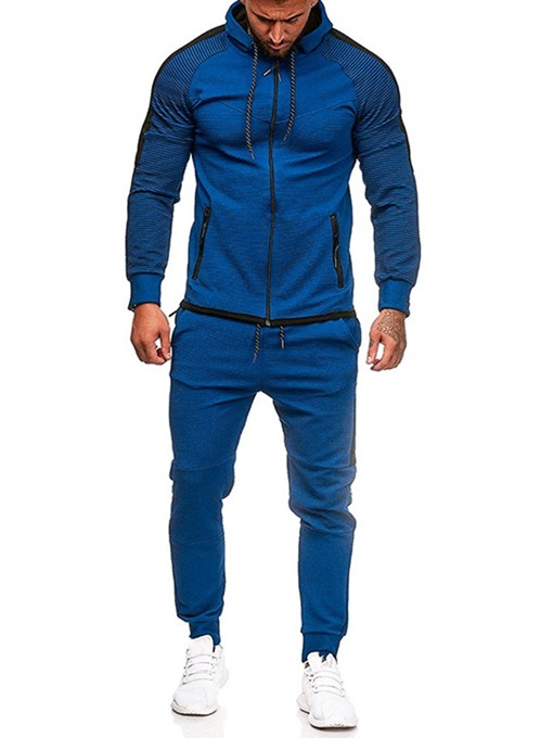Ericdress Patchwork Color Block Men's Sports Outfit