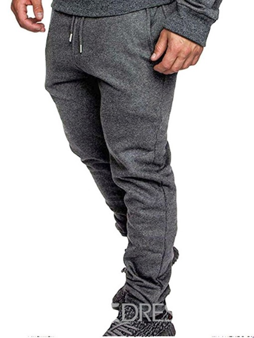 Ericdress Pocket Color Block Casual Lace-Up Men's Casual Pants