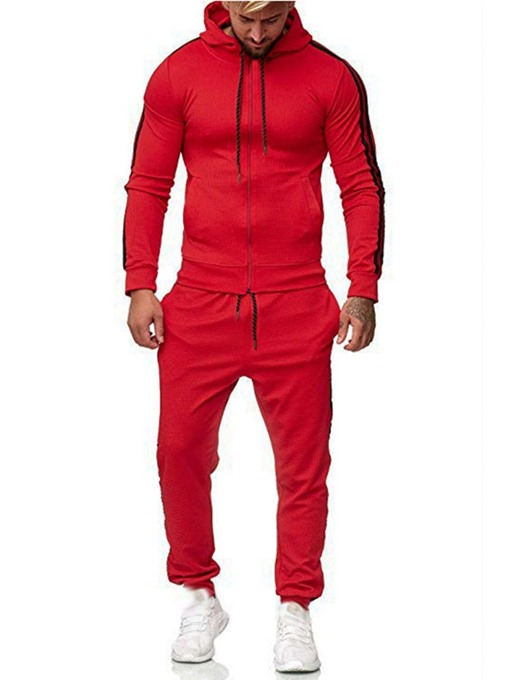 Ericdress Lace-Up Casual Men's Color Block Outfit