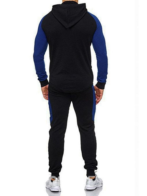 Ericdress Casual Color Block Full Length Men's Sports Outfit