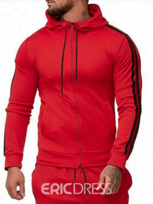 Ericdress Regular Color Block Patchwork Men's Casual Hoodies