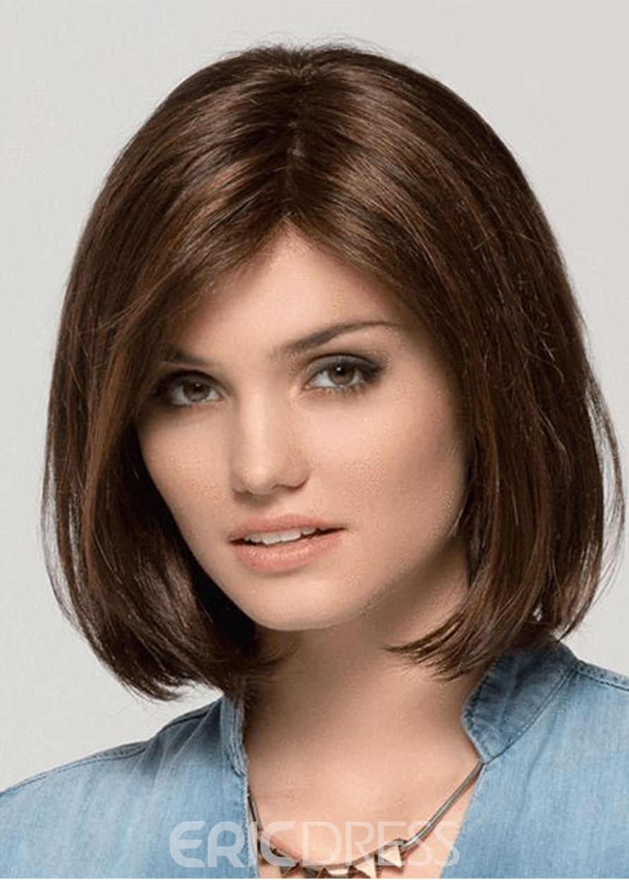 Ericdress Women's Bob Hairstyles Medium Length Natural Synthetic Hair Capless Wigs 14Inches