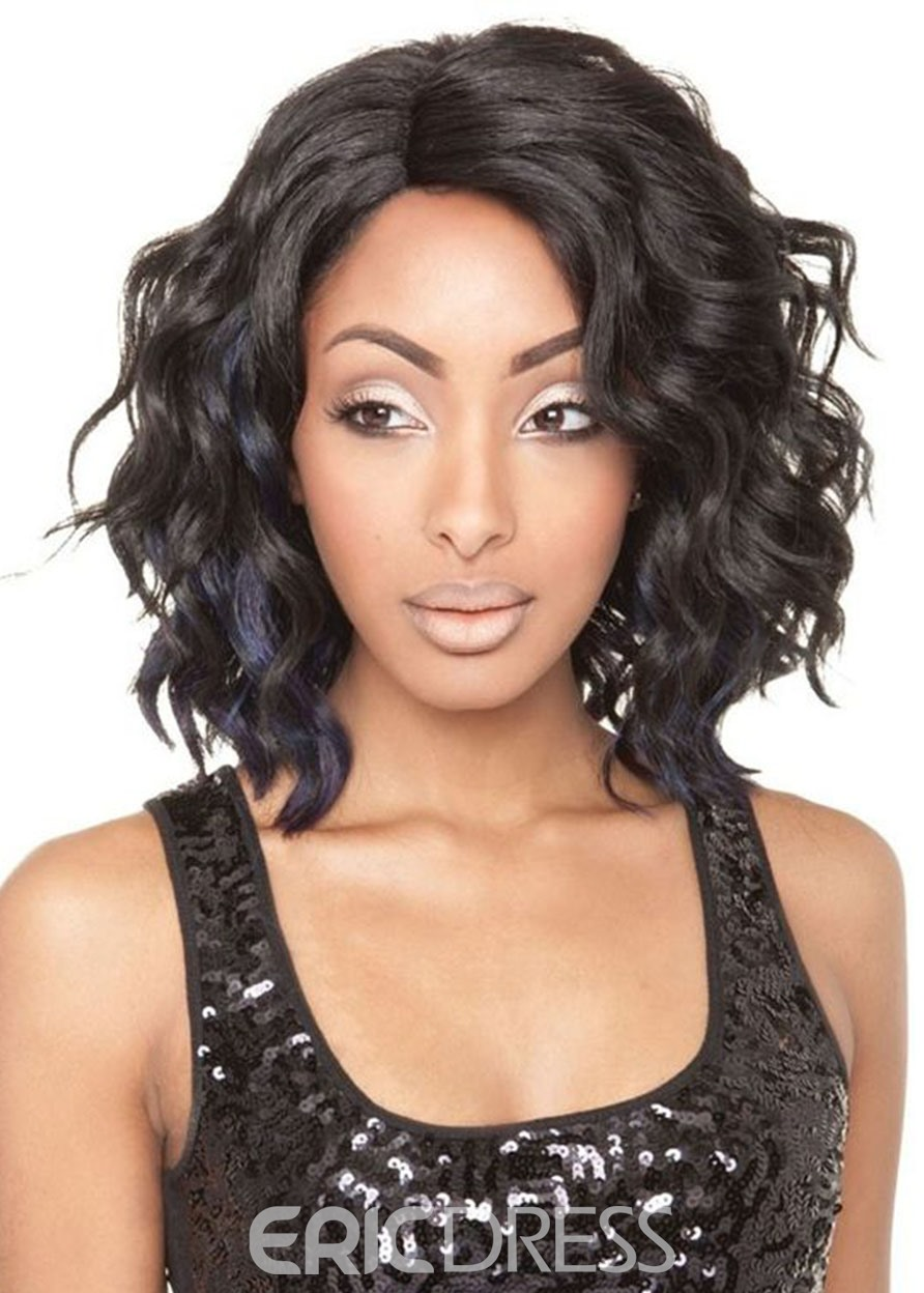 Ericdress Women's Medium Natural Looking Wavy Hairstyles Synthetic Hair Wigs Rose Capless Wig 16Inch