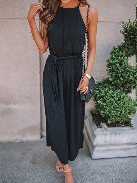 Ericdress Plain Ankle Length Loose Jumpsuit