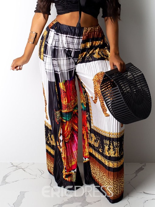 Ericdress African Fashion Dashiki Wide Legs Full Length Casual Pants