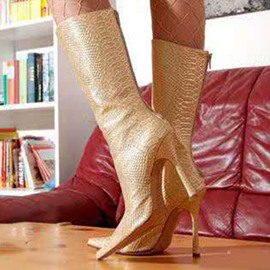 Ericdress Serpentine Back Zip Stiletto Heel Women's Boots
