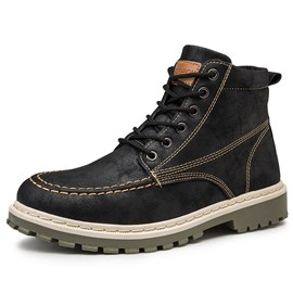 Ericdress Lace-Up Front Color Block Men's Boots