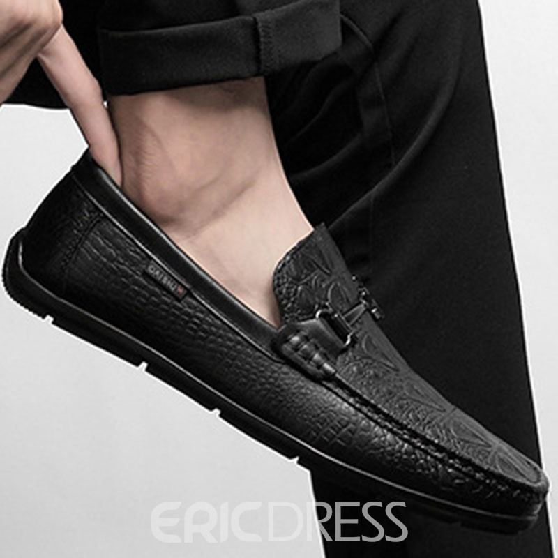 Ericdress Plain Low-Cut Upper Slip-On Round Toe Men's Loafers