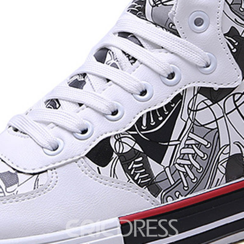 Ericdress Print High-Cut Upper Men's Skate Shoes