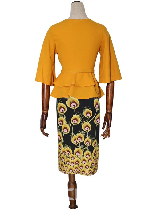 Ericdress African Fashion Dashiki Print Bodycon Two Piece Sets