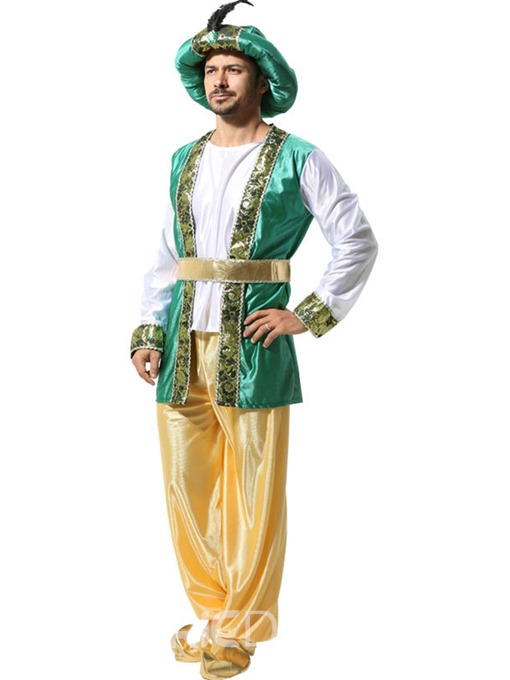 Ericdress Color Block Period Long Sleeve Polyester Costumes