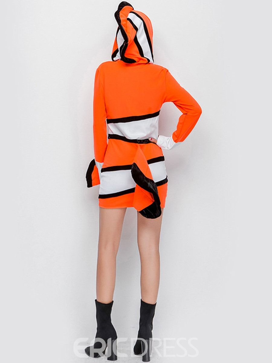 Ericdress Color Block Long Sleeve 3D Cartoon Character Polyester Costumes