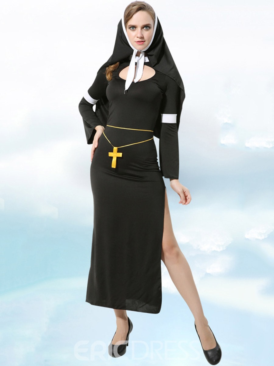 Ericdress Nine Points Sleeve Color Block Polyester Costumes