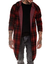 Ericdress Plaid Mid-Length Single Wrapped Mens Trench Coat фото