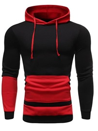 Ericdress Pocket Color Block Men's Regular Hoodies