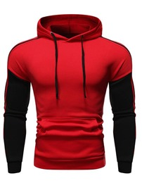 Ericdress Regular Color Block Slim Men's Pullover Hoodies