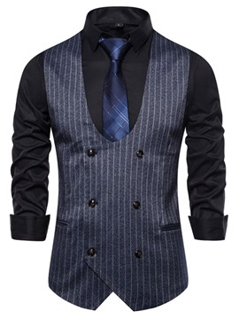 Ericdress Color Block Print Men's Double-Breasted Waistcoat