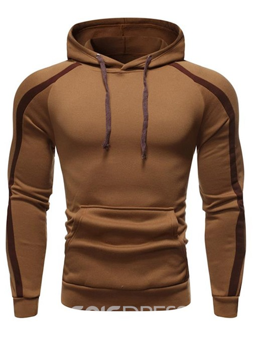 Ericdress Color Block Patchwork Pullover Men's Hoodies