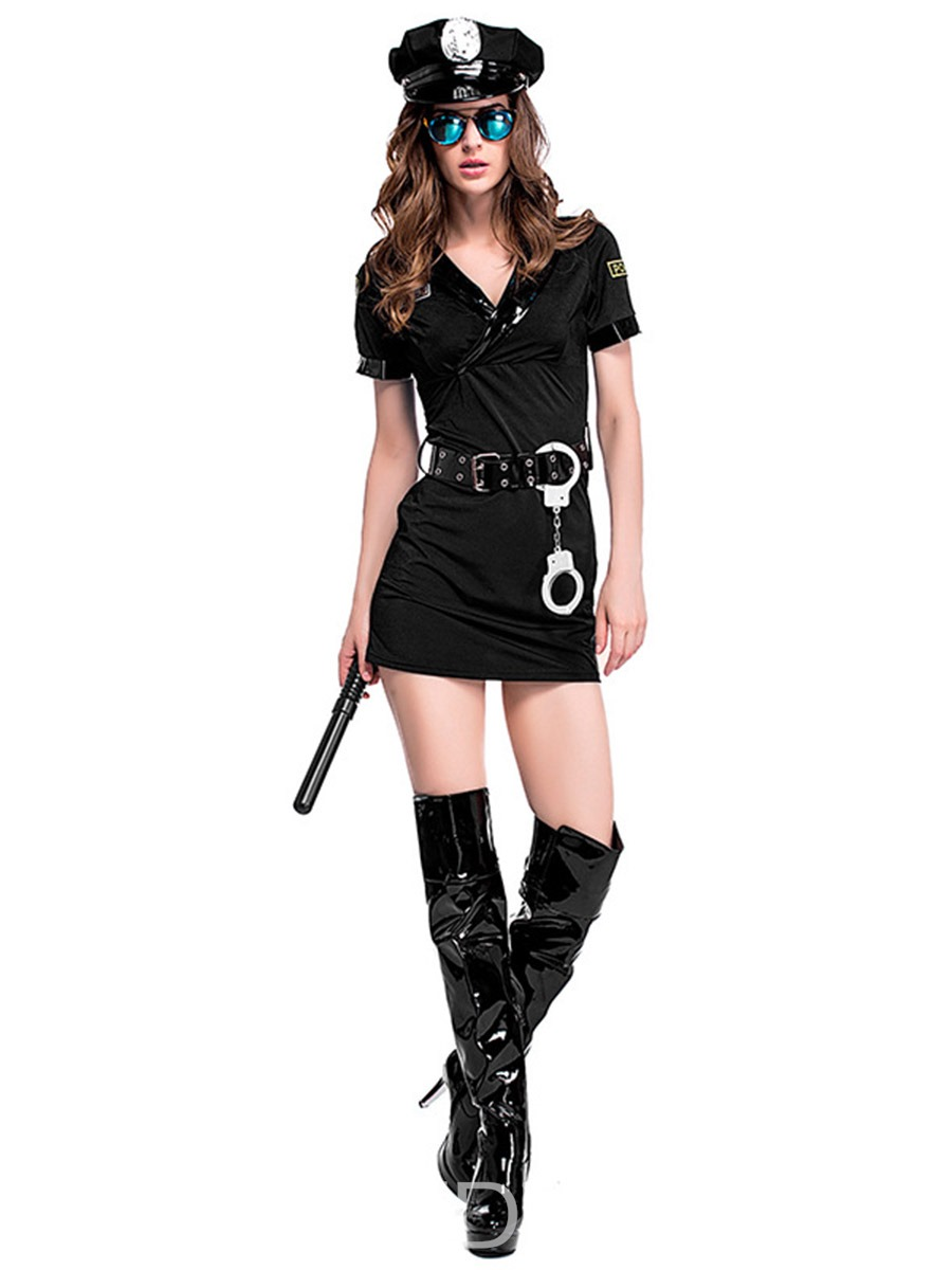 Ericdress Belt Short Sleeve Profession Polyester Costumes