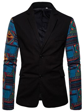 Ericdress Single-Breasted Casual Color Block Men's leisure Blazer