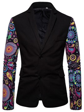 Ericdress Print Color Block Slim Men's leisure Blazer