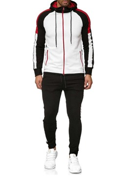 Ericdress Casual Color Block Patchwork Men's Sport Outfit
