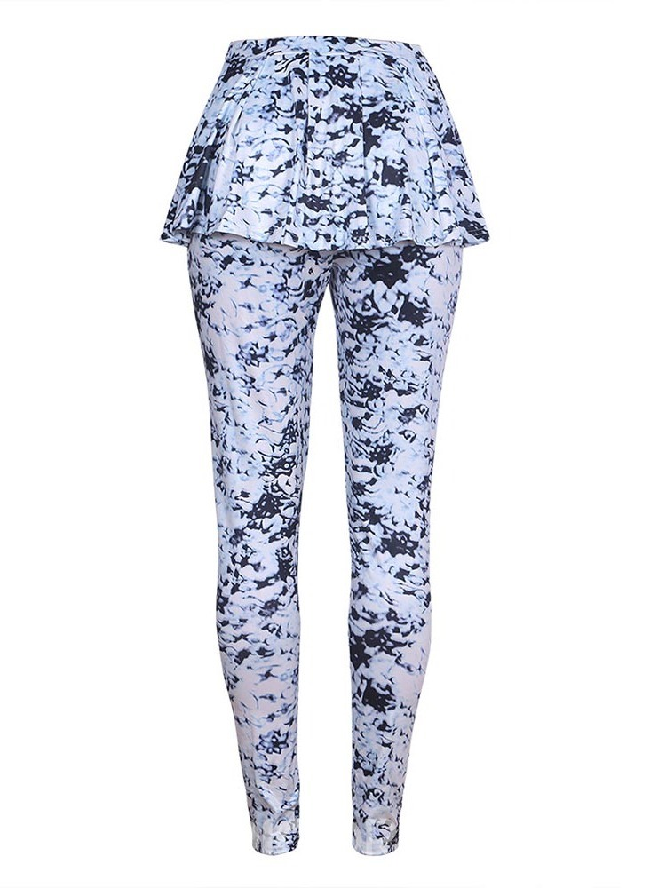 Ericdress Print Skinny Full Length Casual Pants