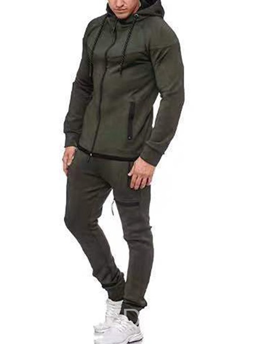 Ericdress Casual Pants Color Block Men's Sport Outfit