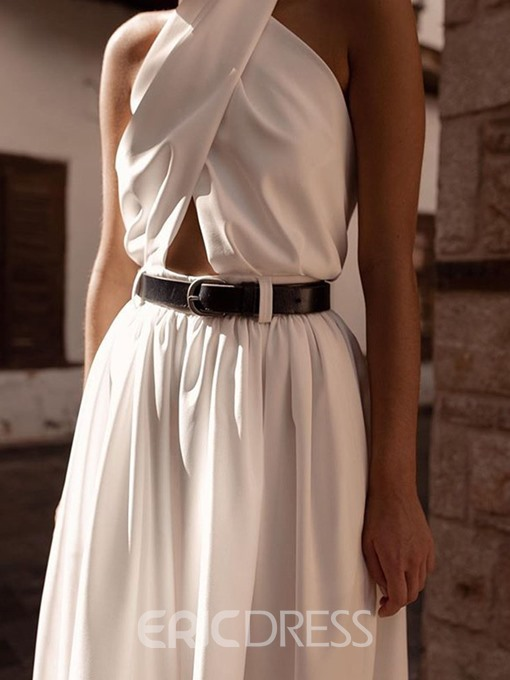 Ericdress Full Length Fashion Backless Wide Legs Loose Jumpsuit(Without Waistband)