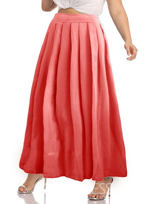 Ericdress Floor-Length Pleated Fashion Skirt