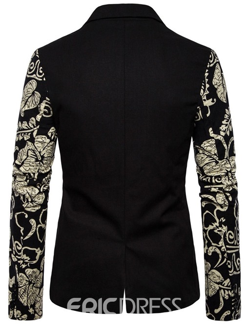 Ericdress Slim Single-Breasted Notched Lapel Men's leisure Blazer
