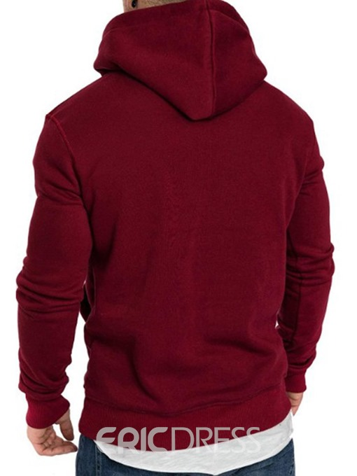 Ericdress Plain Patchwork Fleece Men's Hoodies