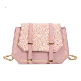 Ericdress PU Sequin Belt-Decorated Crossbody Bags