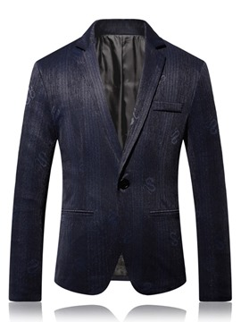 Ericdress One Button Slim Notched Lapel Men's leisure Blazer