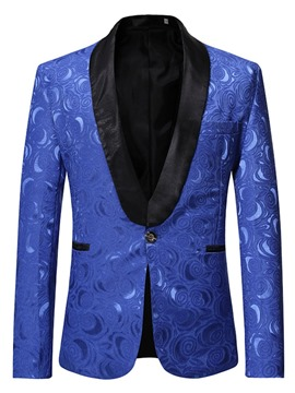 Ericdress Straight Print Casual Men's leisure Blazer